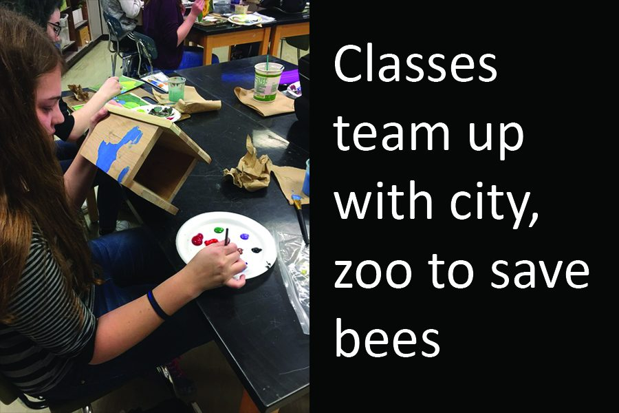 Some+of+Mrs.+Ramberg%27s+students+have+been+asked+to+paint+bee+houses+for+the+Topeka+Zoo%27s+pollinator+palooza.+Students+painted+native+plants+and+flowers+that+would+attract+Kansas+bees.