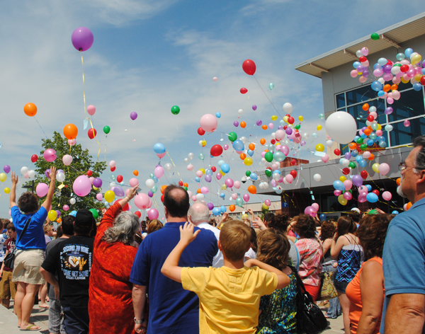 Balloon release for Brenna