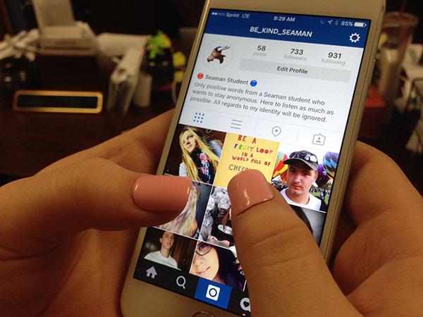 Student spreads joy through Instagram