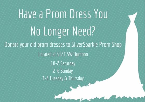 SilverSparkle helps those needing prom dresses