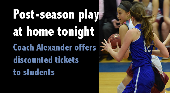 Discounted tickets for Lady Vikes game tonight