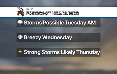 Scattered showers and thunderstorms possible Tuesday morning