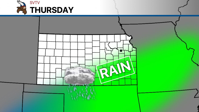 Rain should stay south on Thursday