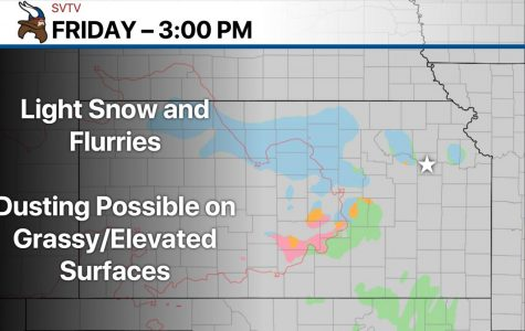 Flurries possible this afternoon