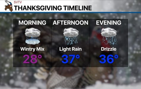 Wintry mix in the morning; light rain in the afternoon
