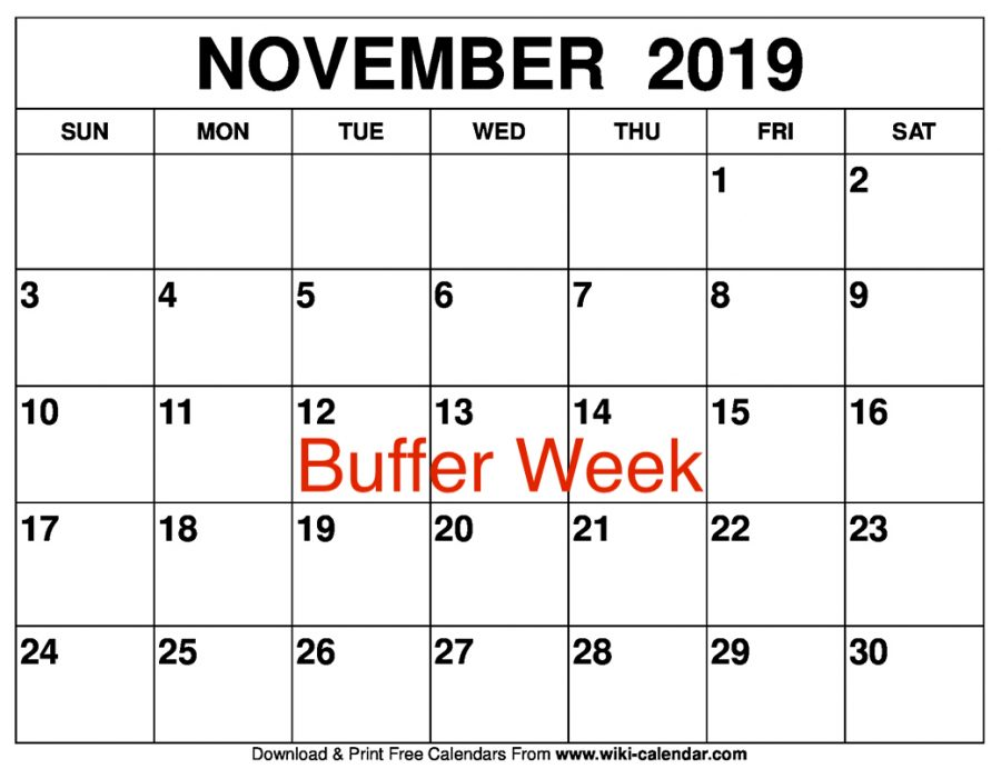 Students use buffer week to reenergize