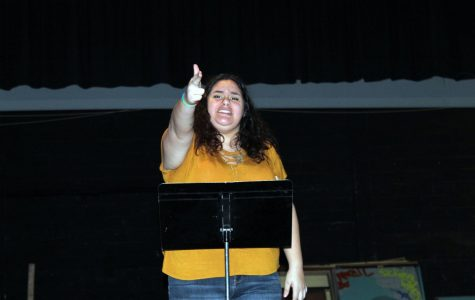 Kelsea Rodriguez is seen performing her poem at SHS. Her poem on police brutality and gun violence won her 1st place at the competition held on January 9th.